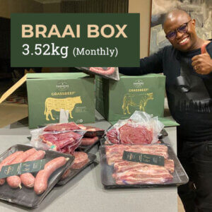 Free Range, Grass-Fed Beef Box - Braai Box 3.52kg Monthly