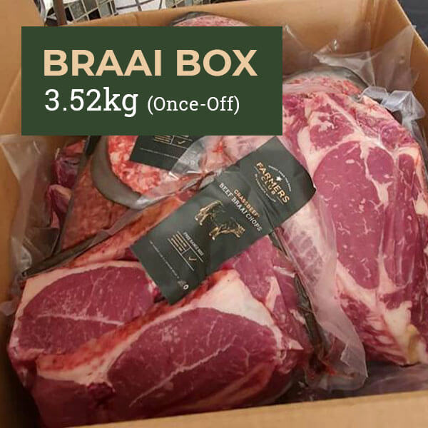 Free Range, Grass-Fed Beef Box - Braai Box 3.52kg Once-Off